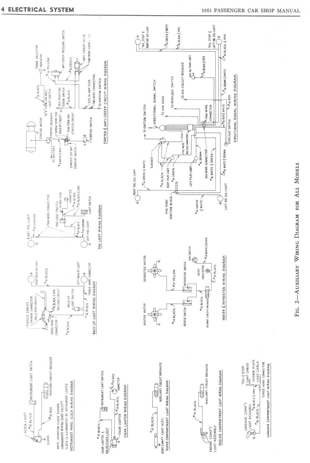 1950 Studebaker Champion Wiring Diagrams